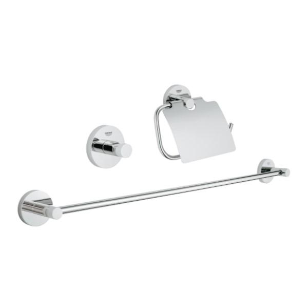 essentials 3in1 guest bathroom accessories set 40775001