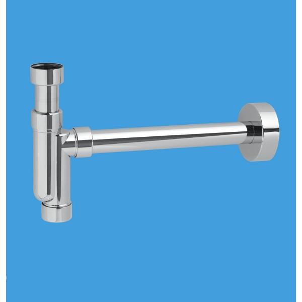 Mc Alpine Chrome Plated Basin Traps, Pipe and Wall Flange 1 1/4″ TA32UK-CB