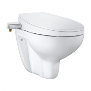 Bau Ceramic Manual Bidet Seat 2-In-1 Set Wall Hung