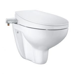 Bau Ceramic Manual Bidet Seat 2-In-1 Set Wall Hung
